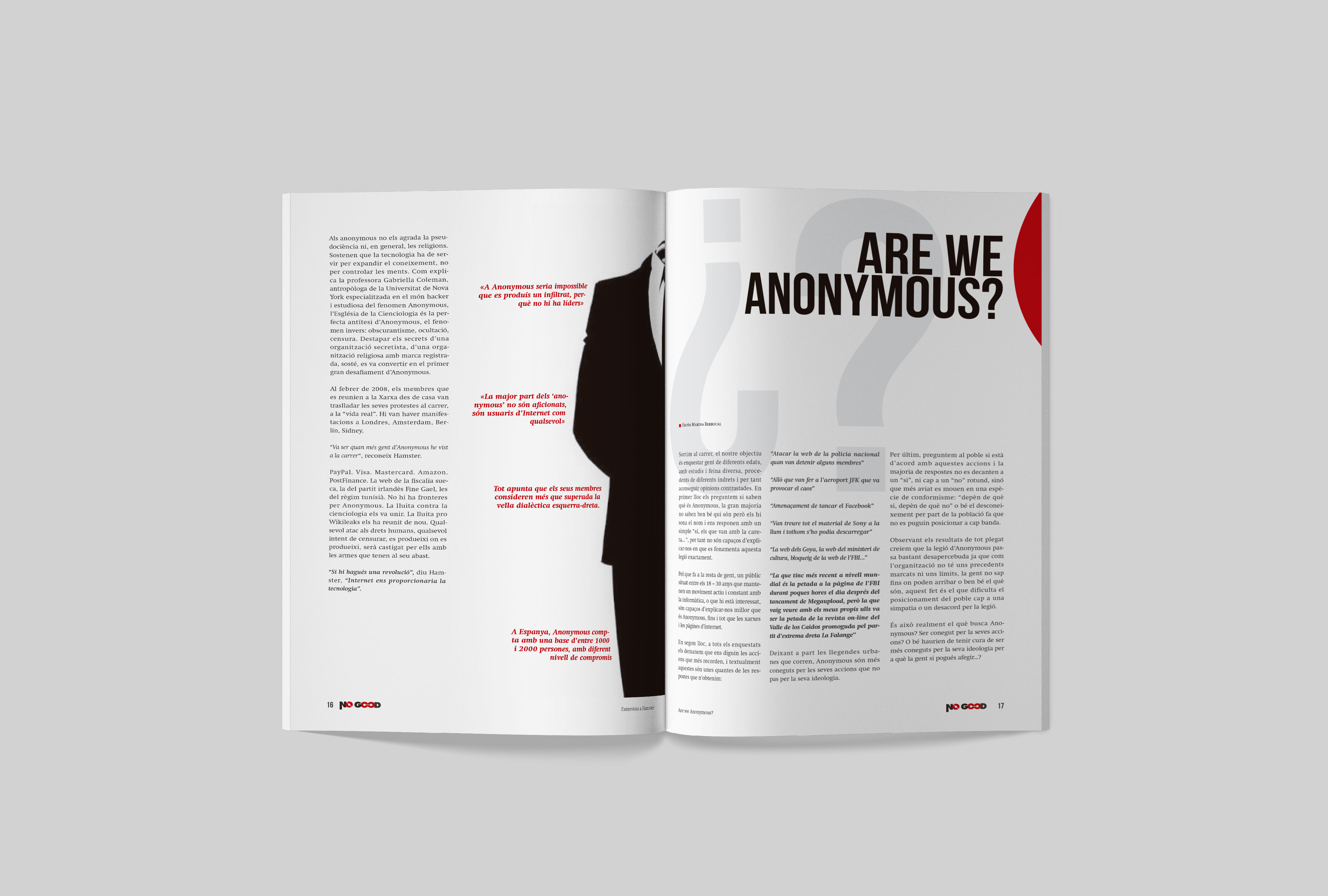 Article Anonymous de la revista No Good